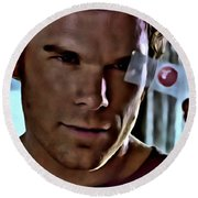 Blood Slide Dexter Round Beach Towel