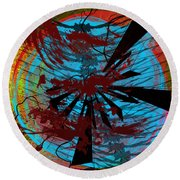 Round Beach Towel featuring the digital art Bloody Mess by Clayton Bruster