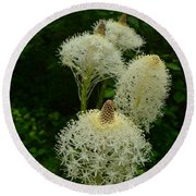 Blooming Bear Grass Round Beach Towel