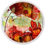 Blooming Impressions.. Round Beach Towel