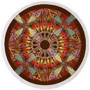 Blooming Mandala 4 Round Beach Towel