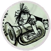 Blooooob! Ink On Paper Round Beach Towel