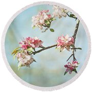 Blossom Branch Round Beach Towel