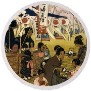 Blossom Time In Tokyo Round Beach Towel
