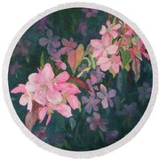 Blossoms For Sally Round Beach Towel