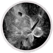 Round Beach Towel featuring the photograph Blowing In The Wind by Lucinda Walter