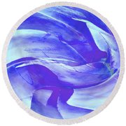 Blue Agave Swirl Round Beach Towel