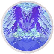 Round Beach Towel featuring the photograph Blue Angel by Stephanie Grant