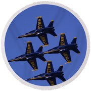 Blue Angels Round Beach Towel