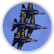 Blue Angels II Round Beach Towel
