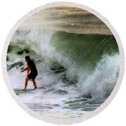 Blue Board Round Beach Towel