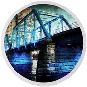 Blue Bridge Round Beach Towel