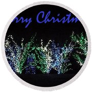 Round Beach Towel featuring the photograph Blue Christmas by Darren Robinson