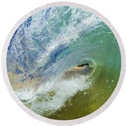 Blue Crush Round Beach Towel by Brad Scott