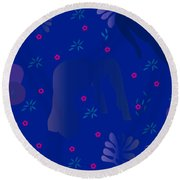 Blue Dance - Limited Edition  Of 30 Round Beach Towel by Gabriela Delgado