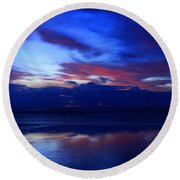 Deep Dawn Ponte Vedra Round Beach Towel