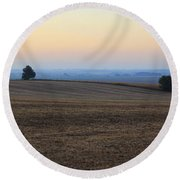 Blue Dawn Round Beach Towel