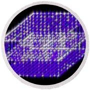 Blue Diamond Grid Round Beach Towel