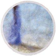 Blue Dream. Impressionism Round Beach Towel