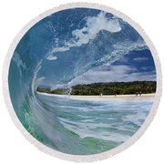 Blue Foam Round Beach Towel