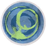 Blue Green 7 Round Beach Towel