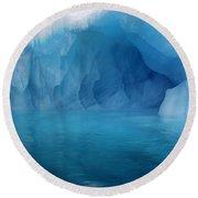 Blue Grotto Round Beach Towel