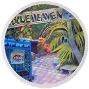 Blue Heaven New View Round Beach Towel