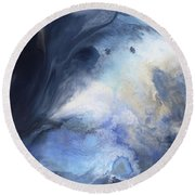 Blue Heavens Round Beach Towel