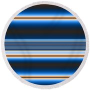 Blue Horizons Round Beach Towel