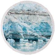 Blue Ice Round Beach Towel by Melinda Ledsome