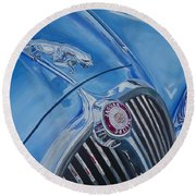 Vintage Blue Jag Round Beach Towel