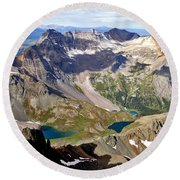 Blue Lakes Beauty Round Beach Towel