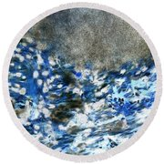 Blue Mold Round Beach Towel