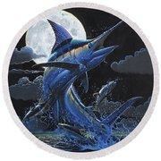 Blue Moon Off0069 Round Beach Towel