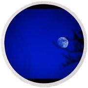 Blue Moon Rise Round Beach Towel by Susanne Still