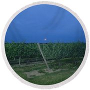 Blue Moon Round Beach Towel by Robert Nickologianis