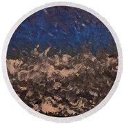 Blue Moon Round Beach Towel