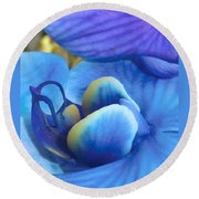Blue Oasis 2  Round Beach Towel