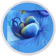 Blue Oasis Round Beach Towel