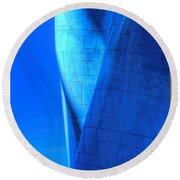 Blue On Blue Cropped Version Round Beach Towel