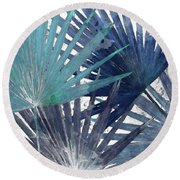 Blue Organic II Round Beach Towel