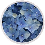 Blue Over You With Tears Round Beach Towel