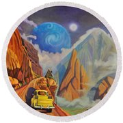 Cliff House Round Beach Towel by Art James West