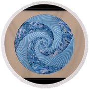 Blue Pool Round Beach Towel by Ron Davidson