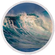 Blue Power. Indian Ocean Round Beach Towel