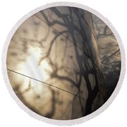 Round Beach Towel featuring the photograph Blue Ribbon Garden 2 by Gandz Photography