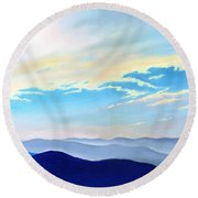 Blue Ridge Blue Above Round Beach Towel