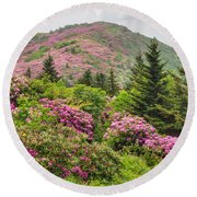 Blue Ridge Mountain Rhododendron - Roan Mountain Bloom Extravaganza Round Beach Towel