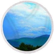 Round Beach Towel featuring the photograph Blue Ridge Mountains by Judy Palkimas