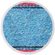 Blue Rug Round Beach Towel